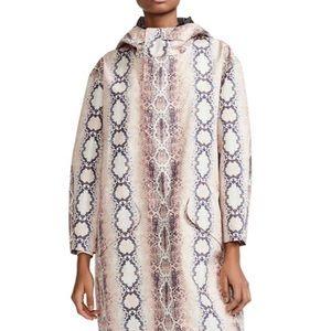 Maje Baro Snake Print Hooded Jacket, OS